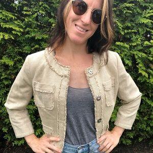 NEW Michael Kors Cream Jacket - Size 6P